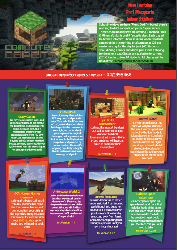 computer capers flyer 1 of 2